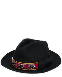 Sombrero con adornos negro de Etro