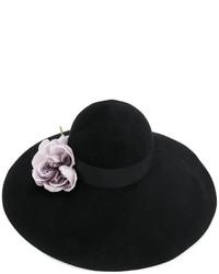 Sombrero con adornos negro de Gucci