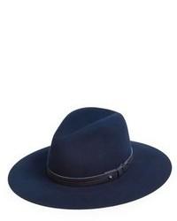 Sombrero de lana azul marino