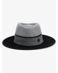 Sombrero de Lana Azul Marino de Maison Michel