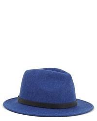 Sombrero de lana azul