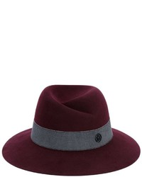 Sombrero de lana burdeos de Maison Michel