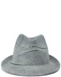 Sombrero de lana gris de Borsalino