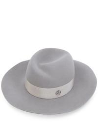 Sombrero de Lana Gris de Maison Michel