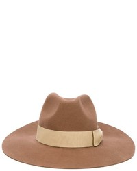 Sombrero de lana marrón claro de Paul Smith