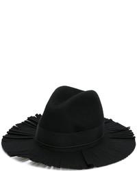Sombrero de lana negro de Federica Moretti