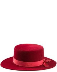 Sombrero de lana rojo de CA4LA