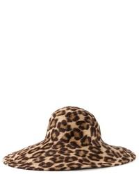 Sombrero de leopardo marrón claro de Philip Treacy