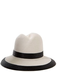 Sombrero de Paja Blanco y Negro de Nell