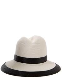 Sombrero de paja en blanco y negro de Nell