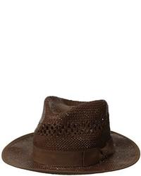 Sombrero de paja en marrón oscuro de Original Penguin
