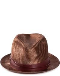 Sombrero de paja en marrón oscuro