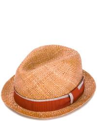 Sombrero de paja en tabaco de Paul Smith