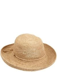 Sombrero de paja marrón claro de Scala