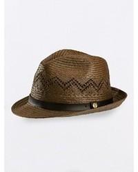 Sombrero de paja marrón