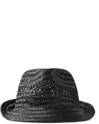 Sombrero de paja negro de DSQUARED2