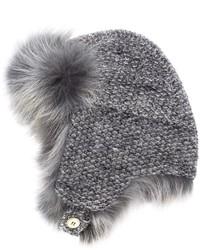 Sombrero de Piel Gris de Inverni