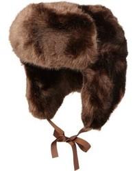 Sombrero de piel marrón