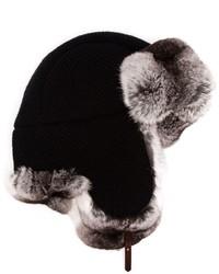 Sombrero de Piel Negro de Inverni