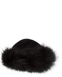Sombrero de Piel Negro de Salvatore Ferragamo