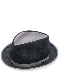 Sombrero de tartán en gris oscuro de Etro