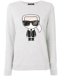 Sudadera blanca de Karl Lagerfeld