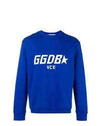 Sudadera bordada azul de Golden Goose Deluxe Brand