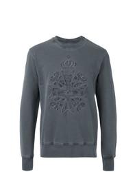 Sudadera bordada en gris oscuro de Vivienne Westwood MAN