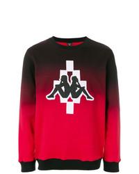 Sudadera bordada roja de Marcelo Burlon County of Milan
