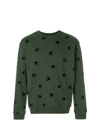 Sudadera con adornos verde de McQ Alexander McQueen