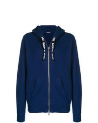 Sudadera con capucha azul marino de Balmain