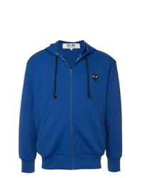 Sudadera con capucha azul de Comme Des Garcons Play