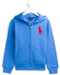 Sudadera con capucha azul de Ralph Lauren