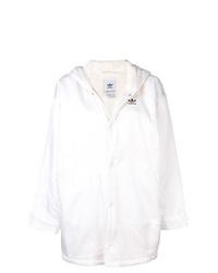Sudadera con capucha blanca de adidas