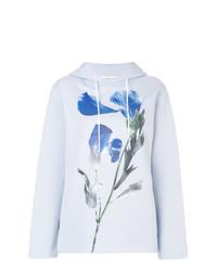 Sudadera con capucha con print de flores celeste de Golden Goose Deluxe Brand
