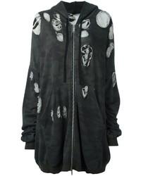 Sudadera con capucha de camuflaje en marrón oscuro
