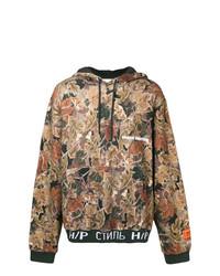 Sudadera con capucha de camuflaje marrón claro de Heron Preston