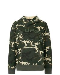 Sudadera con capucha de camuflaje verde oscuro de The Upside