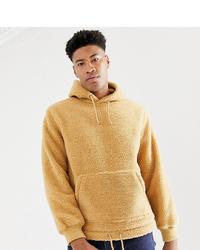 Sudadera con capucha de forro polar marrón claro