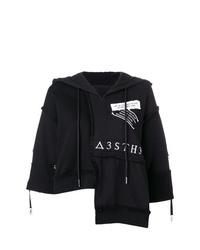 Sudadera con capucha de manga corta estampada en negro y blanco de Diesel