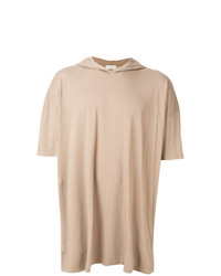 Sudadera con capucha de manga corta marrón claro de Faith Connexion