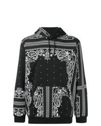 Sudadera con capucha de paisley negra de adidas