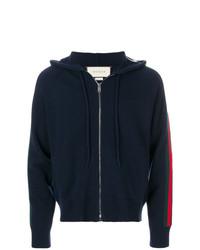 Sudadera con capucha de punto azul marino de Gucci