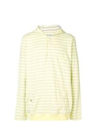 Sudadera con capucha de rayas horizontales amarilla de Puma