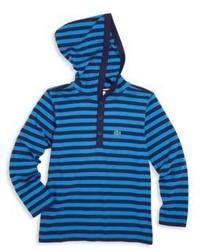 Sudadera con capucha de rayas horizontales azul