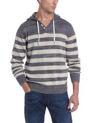 Sudadera con capucha de rayas horizontales gris de Alex Stevens