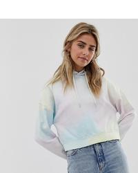 Sudadera con capucha efecto teñido anudado en multicolor