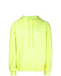 Sudadera con capucha en amarillo verdoso