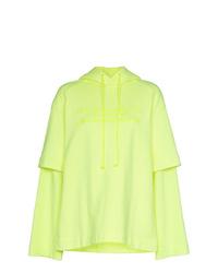 Sudadera con capucha en amarillo verdoso de Juun.J