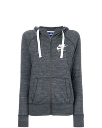 Sudadera con capucha en gris oscuro de Nike